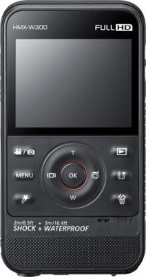 Видеокамера Samsung HMX-W300 Black-Titanium - фронтальный вид