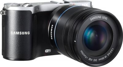 Беззеркальный фотоаппарат Samsung NX210 Kit 18-55mm Black-Silver - общий вид
