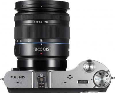 Беззеркальный фотоаппарат Samsung NX210 Kit 18-55mm Black-Silver - вид сверху