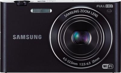 Компактный фотоаппарат Samsung MV900F Black - фрнтальный вид