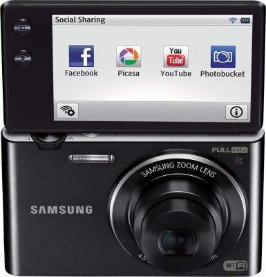Компактный фотоаппарат Samsung MV900F Black - общий вид