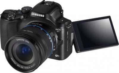 Беззеркальный фотоаппарат Samsung NX20 Kit 18-55mm Black - общий вид