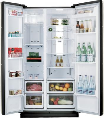 Холодильник с морозильником Samsung RSH5SLBG1 - внутренний вид