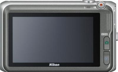 Компактный фотоаппарат Nikon Coolpix S6400 Silver - вид сзади