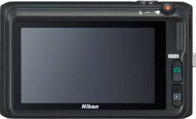 Компактный фотоаппарат Nikon Coolpix S6400 Black - вид сзади