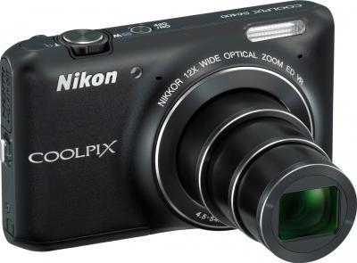Компактный фотоаппарат Nikon Coolpix S6400 Black - общий вид