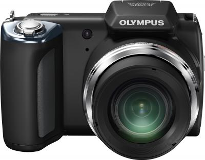 Компактный фотоаппарат Olympus SP-620UZ Black (с microSDHC 4Gb) - вид спереди