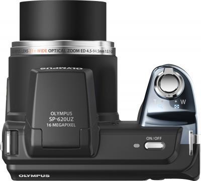 Компактный фотоаппарат Olympus SP-620UZ Black (с microSDHC 4Gb) - вид сверху