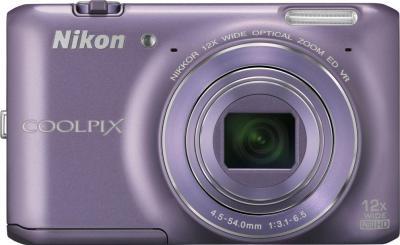 Компактный фотоаппарат Nikon Coolpix S6400 (Purple) - вид спереди