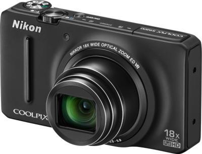Компактный фотоаппарат Nikon Coolpix S9200 (Black) - общий вид