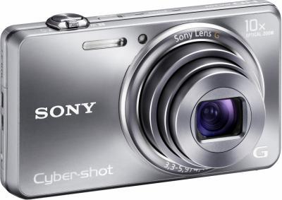 Компактный фотоаппарат Sony Cyber-shot DSC-WX100 (Silver) - общий вид