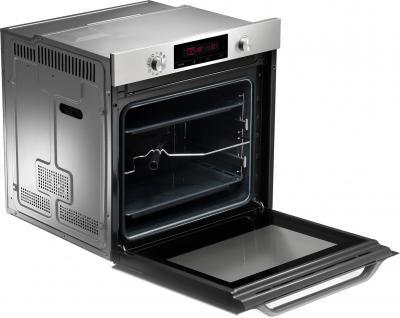 Электрический духовой шкаф Samsung NV6584LNESR - с открытой дверцой