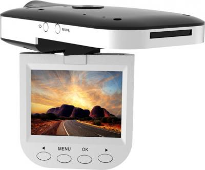 Автомобильный видеорегистратор Ritmix AVR-335 - общий вид (дисплей)