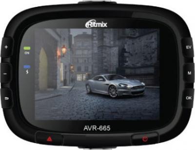 Автомобильный видеорегистратор Ritmix AVR-665 - фронтальный вид