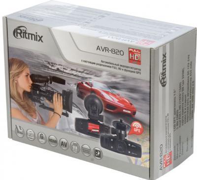 Автомобильный видеорегистратор Ritmix AVR-820 - коробка