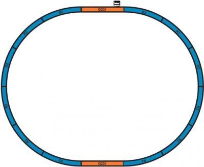 Железная дорога детская Piko Цирковой поезд (57145) - схема железной дороги