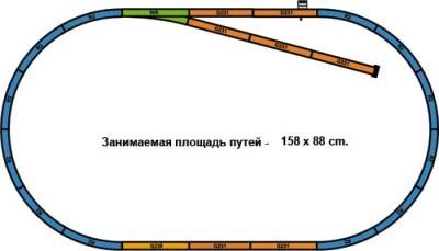 Железная дорога детская Piko Грузовой дизельный поезд (57151) - схема путей