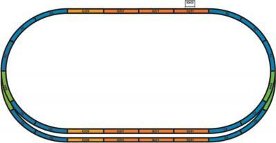Железная дорога детская Piko Пассажирский поезд и 3 вагона (57155) - общий вид