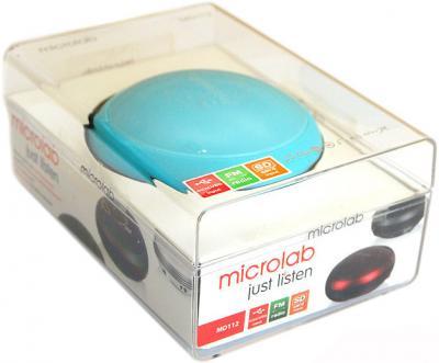 Портативная колонка Microlab MD 112 Blue (MD112-3164) - в упаковке