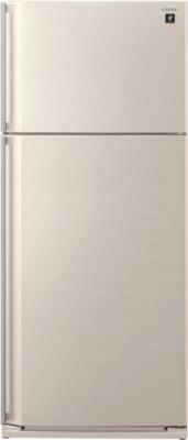 Холодильник с морозильником Sharp SJ-SC59PVBE - вид спереди