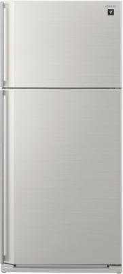 Холодильник с морозильником Sharp SJ-SC59PVSL - вид спереди