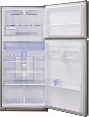 Холодильник с морозильником Sharp SJ-SC59PVSL - внутренний вид