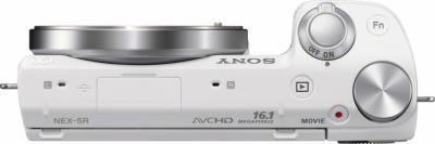 Беззеркальный фотоаппарат Sony Alpha NEX-5RK (White) - вид сверху