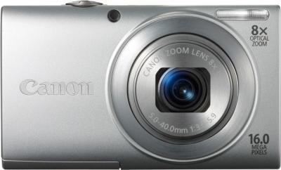 Компактный фотоаппарат Canon PowerShot A4000 IS Silver (microSD 4Gb) + Чехол - вид спереди