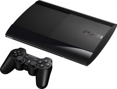 Игровая приставка Sony Playstation 3 (CECH-4008C) + игры GT5 Academy Ed/U3 GOTY - общий вид с джойстиком