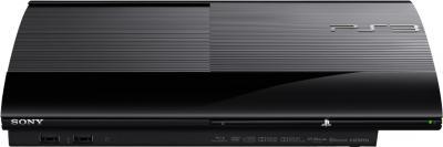 Игровая приставка Sony Playstation 3 (CECH-4008C) + игры GT5 Academy Ed/U3 GOTY - фронтальный вид