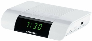Радиочасы Grundig KSC 30  (Matt White) - вполоборота