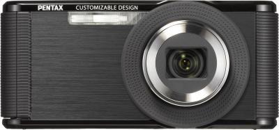 Компактный фотоаппарат Pentax Optio LS465 (Sapphire-Black) - вид спереди