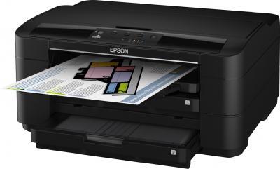 Принтер Epson WorkForce WF-7015 - общий вид (открытый лоток)