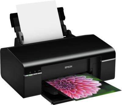 Принтер Epson Stylus Photo P50 - общий вид (открытые лотки)