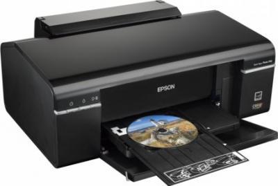 Принтер Epson Stylus Photo P50 - общий вид (печать на CD/DVD)