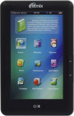 Электронная книга Ritmix RBK-330 Black (microSD 8Gb) - общий вид