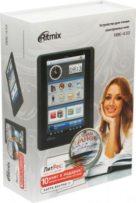 Электронная книга Ritmix RBK-433 (microSD 4Gb) - коробка