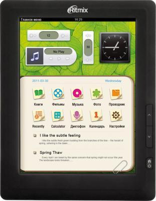 Электронная книга Ritmix RBK-470 4Gb (microSD 8Gb) - общий вид
