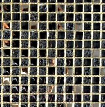 Мозаика стеклянная Pilch STD 15002 Черный (300x300)