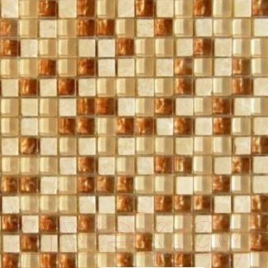 Мозаика стеклянная Pilch PC 004 Стекло Бежево-Коричневый (300x300)