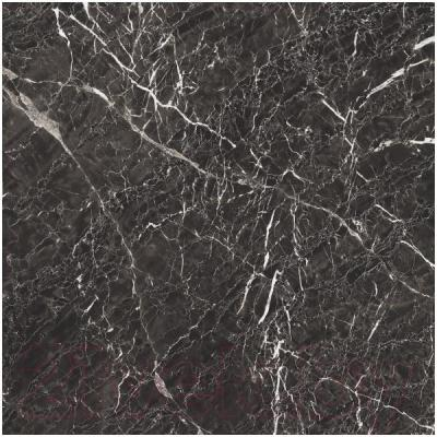 Плитка Kerranova Black and White Black Lapp. (600x600)