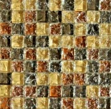 Мозаика стеклянная Pilch AA 05 Желто-Коричневый (300x300)