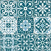Декоративная  плитка для пола VitrA Carmina Blue Tozetti K085755 (450x450) -