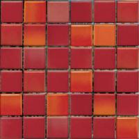Мозаика керамическая VitrA Colorline Mix 7 Красный (300x300, M5x5) -