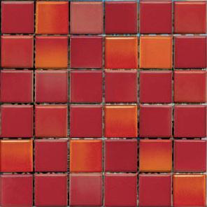 Мозаика керамическая VitrA Colorline Mix 7 Красный (300x300, M5x5)