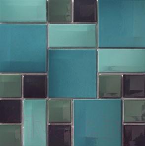 Мозаика керамическая VitrA Day-To-Day Acqua Blue Mix Glossy (300x300)