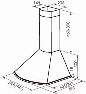 Вытяжка купольная Zorg Technology Viola 750 (60, нержавеющая сталь)