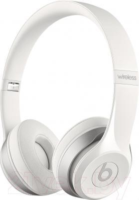 Наушники-гарнитура Beats Solo 2 Wireless Headphones / MHNH2ZM/A (белый)