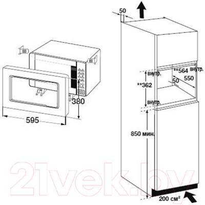 Микроволновая печь Samsung FW87SR-W/BWT - информация для встраивания