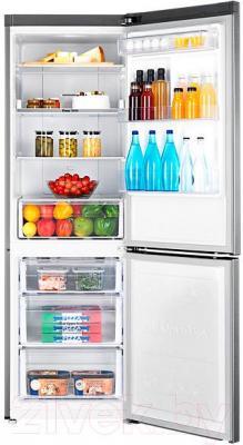 Холодильник с морозильником Samsung RB33J3400SS/WT